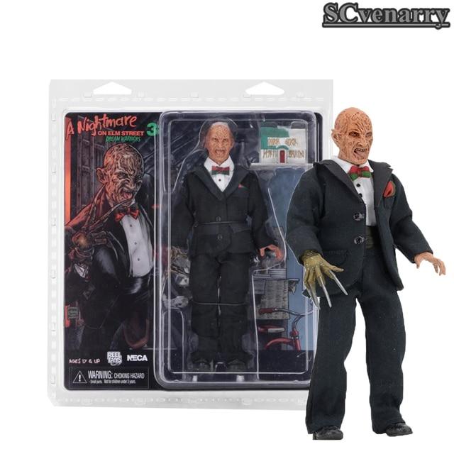 NECA UM Sonho Guerreiros 3 Nightmare on Elm Street Freddy Krueger PVC Action Figure Collectible Modelo Toy 20 cm