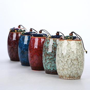 Chino carrito de té de cerámica de Porcelana Vintage Mini té almacenamiento...