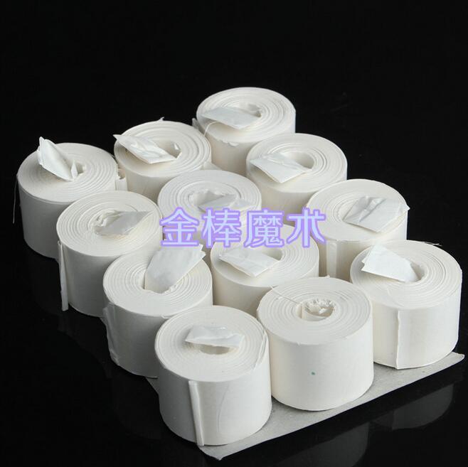 Bouche bobine papier (blanc), 12 pcs/paquet 19 mètres, Top-qualité, Vomit papier-tour de magie, gros plan, street Magic, accessoires 046