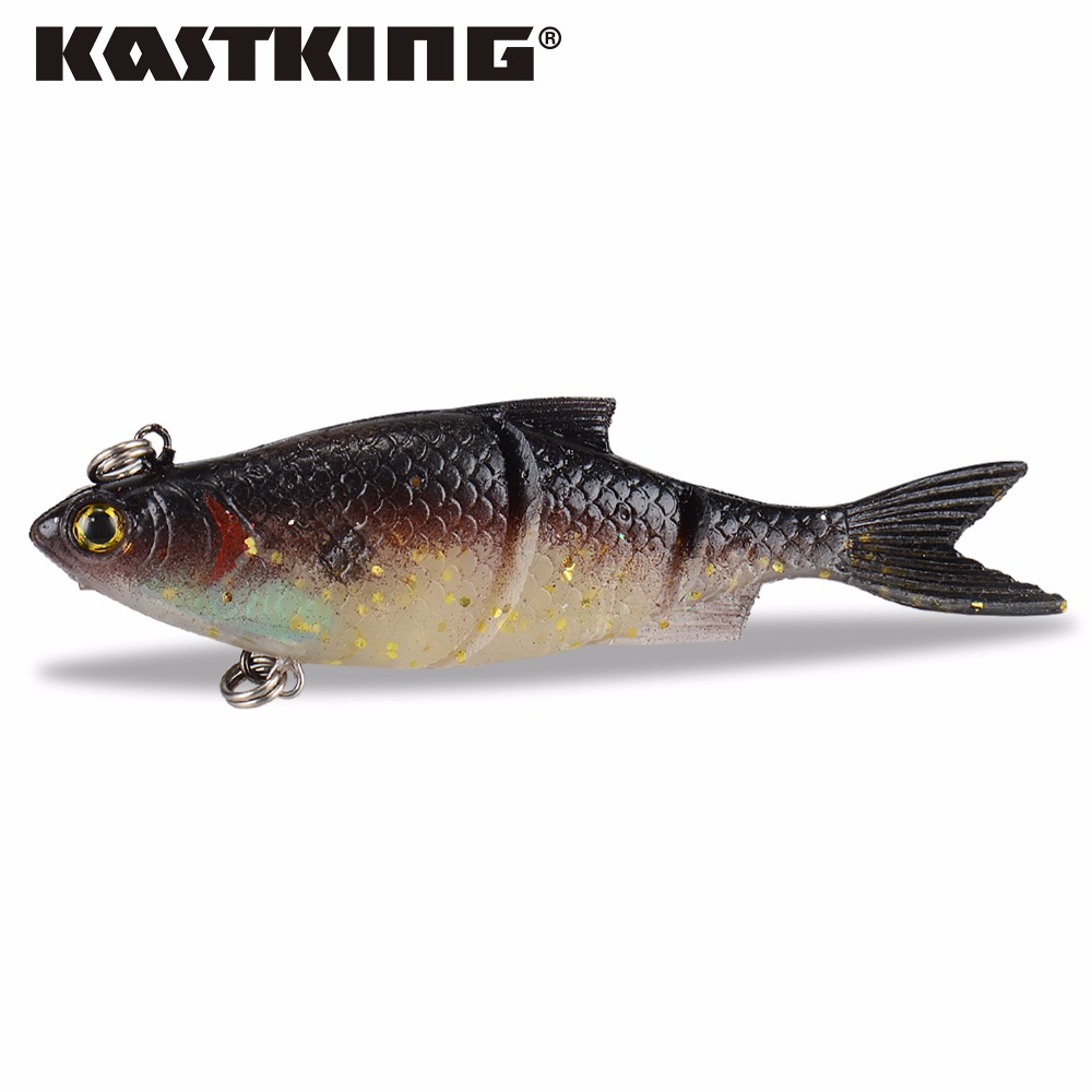 Kastking 1pc 104mm handmade soft bait fish fishing for Fishing with minnows for bass