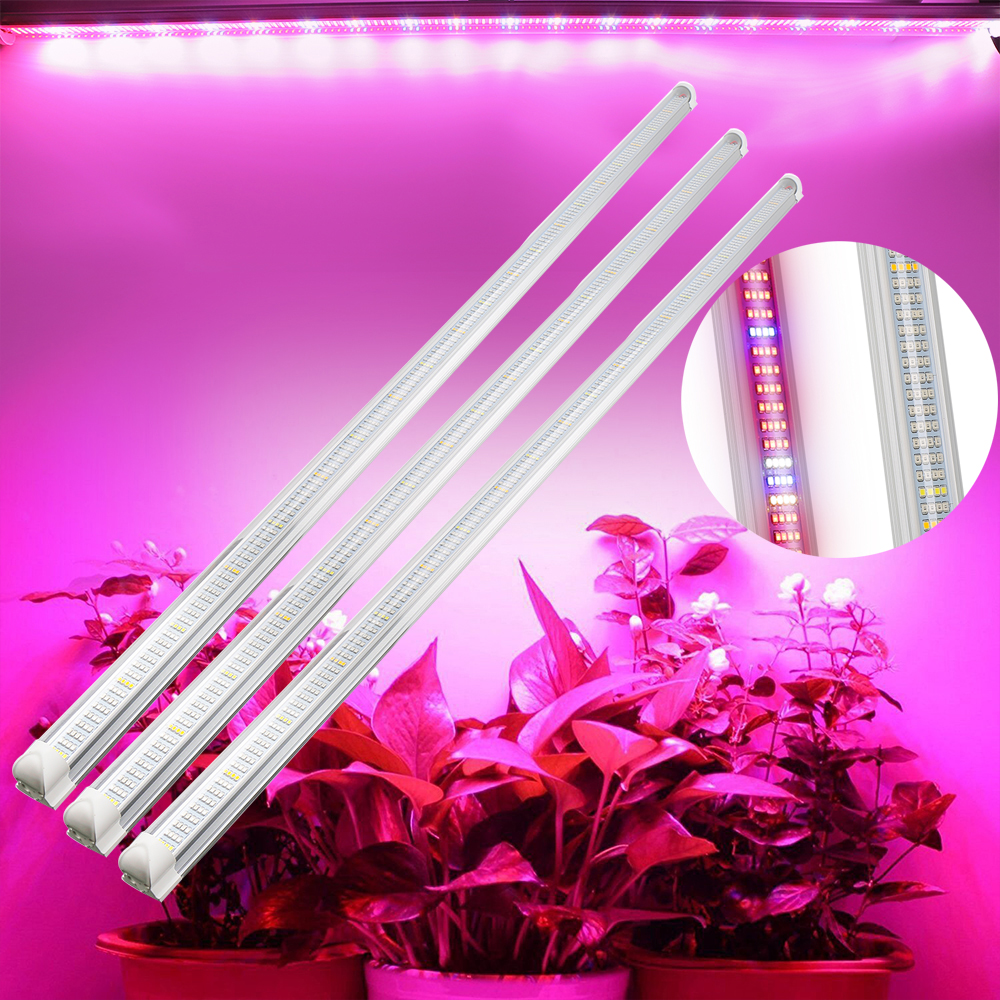 3Pcs Red Blue LED Grow Light 90 120cm Led Fitolampy Phyto Lamp strip For potted Plants