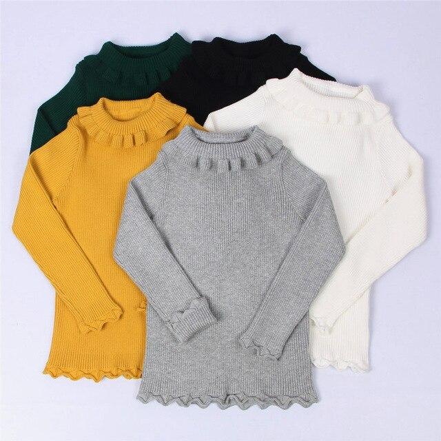4b8459d0ab67 2018 Autumn Baby Boys Girls Turtleneck Sweaters Kids Girl Sweater ...