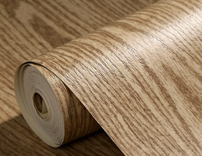 embossed modern vinyl wood oak pattern wallpaper roll tv unit background wall wood grain art