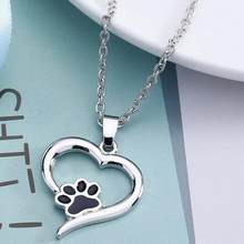 Stylish Necklace For Women Personalized Fashion Jewelry Necklace Dog Paw Alloy Material Pendientes Flawless Torque Superb Choker(China)