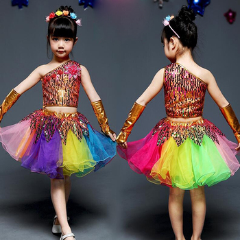 Girls Colors Sequins Hip Hop dance dress Clothing Kids Jazz Cheerleader Dance wear Costumes  Ballroom Dancing Clothes Outfits boys modern jazz dancewear outfits kids hip hop party ballroom dance costumes sweatpants hoodie costumes tracksuit outfits