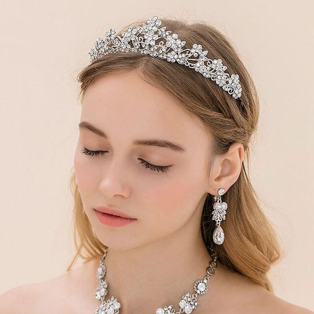 Visualizzza di più. Lusso principessa diana queen corona da sposa corte  vento cerchio dei capelli copricapo da sposa accessori 425a693fa1fe