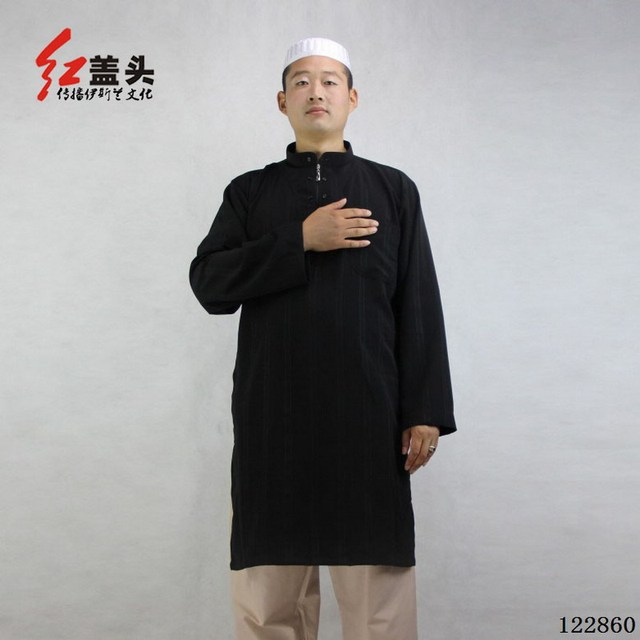 Us 7 42 5 Colors Muslim Men Thobe Muslim Dress Man Stand Collar Muslim Clothing For Men Malaysia Tops Mens Kaftan Custom Kebaya 122860 In Islamic