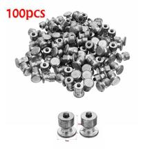 Car Tires Studs Screw Snow Spikes Wheel Tyres Snow Chains Studs For Shoes ATV Car Motorcycle Tires 100pcs Winter Wheel Lugs