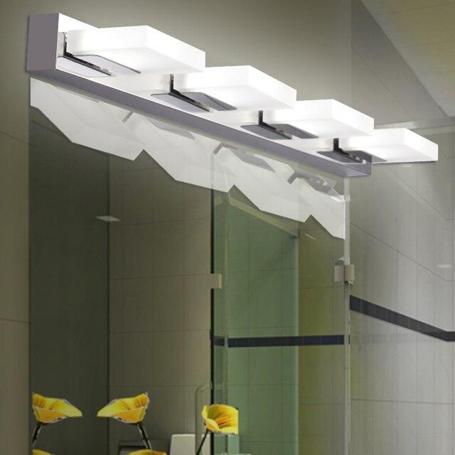 iluminacin led espejo moderno de acrlico de alto top breve bao de acero dormitorio lmparas de