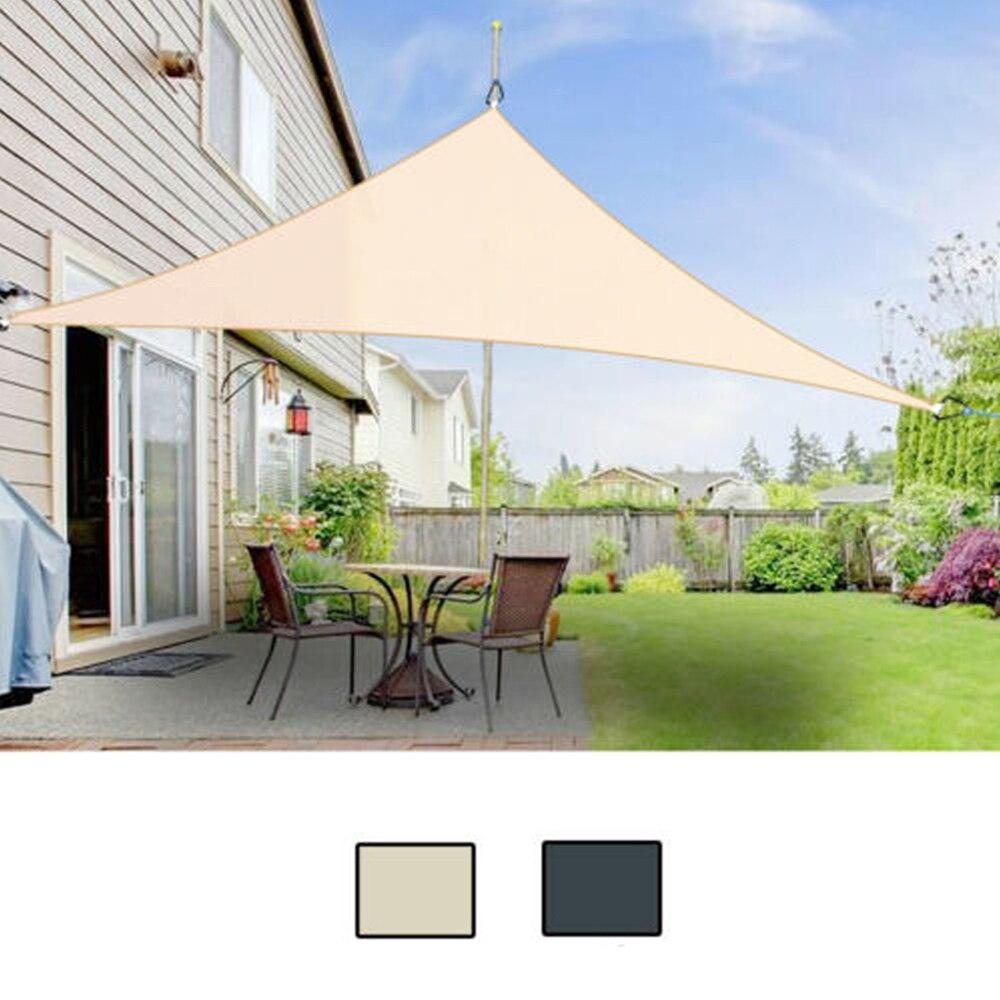 Voile D Ombrage Imperméable imperméable à leau triangle soleil ombre voile protection extérieur auvent  jardin patio piscine parasol tissu net camping tente w/1800d corde