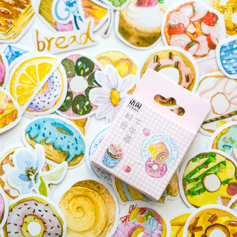 Afternoon Tea Time Decorative Washi Stickers Scrapbooking Stick Label Diary Stationery Album Stickers twin star purin melody waterproof decorative washi stickers scrapbooking stick label diary stationery album stickers