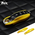 Yellow FOB Remote Key Case Cover Replacement for Porsche boxster cayman 911 Panamera Cayenne Macan