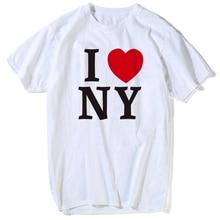 7d51e8902efab T Chemises Pour homme femme J aime NY New York Imprimé Coeur Nouvelle  qualité supérieure T-shirt t-shirt personnalisé hauts tee-.