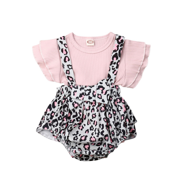 Am /_ Baby Baumwolle Band Riemen Outfits Cartoon Muster Kurzer Overall Shorts