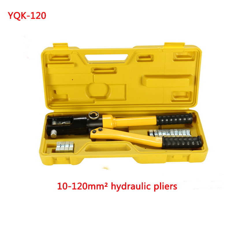 все цены на  Free shipping by DHL 1pcs 10-120MM crimping range Hydraulic crimping tool YQK-120  онлайн