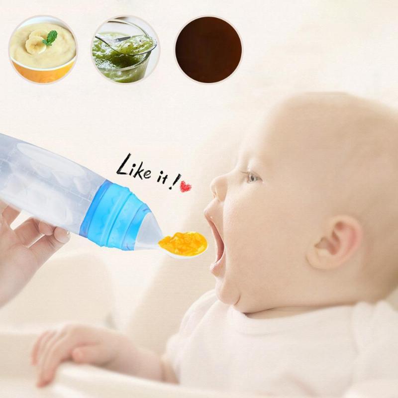 Flaschen Baby Löffel Fütterung Gerichte Geschirr Weiche Löffel Quetschen Fütterung Flaschen Abdeckung Für Baby Kinder Besteck Feeder-tools Gadgets Mutter & Kinder