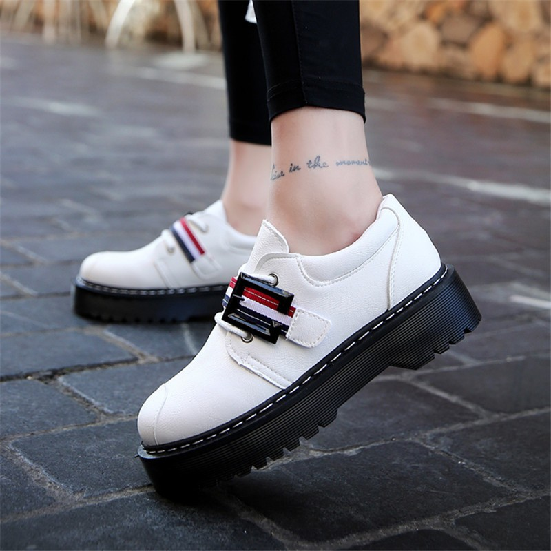 2017 Spring Autumn Platform Women Shoes Patent Leather Lace Up Shoes For Woman Casual Shoes Ladies Flats Zapatos Mujer S151 (31)