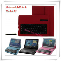 Universal teclado bluetooth removível pu case capa para nokia lumia 2520 para lenovo miix2 10 10-zth caneta stylus livre