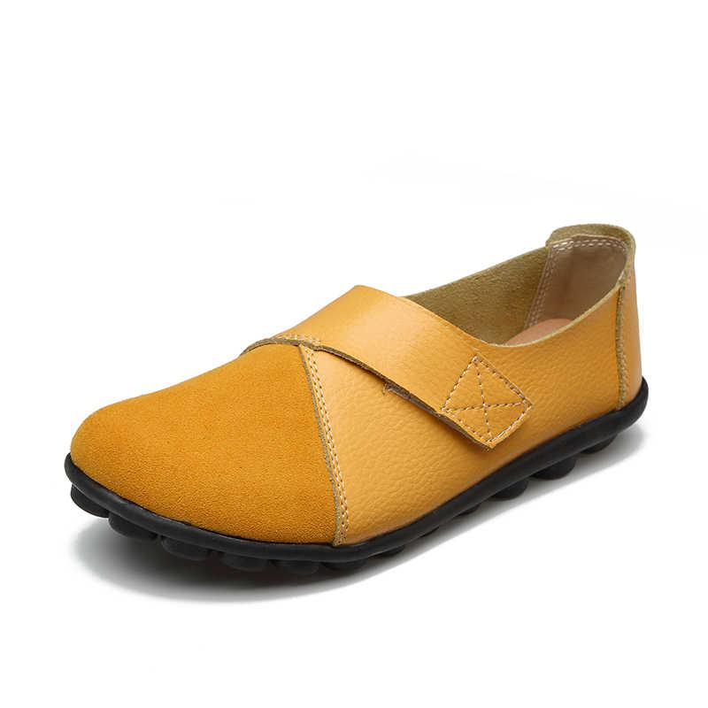 Plardin/Женская обувь на плоской подошве; сезон весна; модная удобная обувь из натуральной кожи на плоской подошве; женская обувь без застежки; Цвет Зеленый, Изумрудный; zapatos mujer