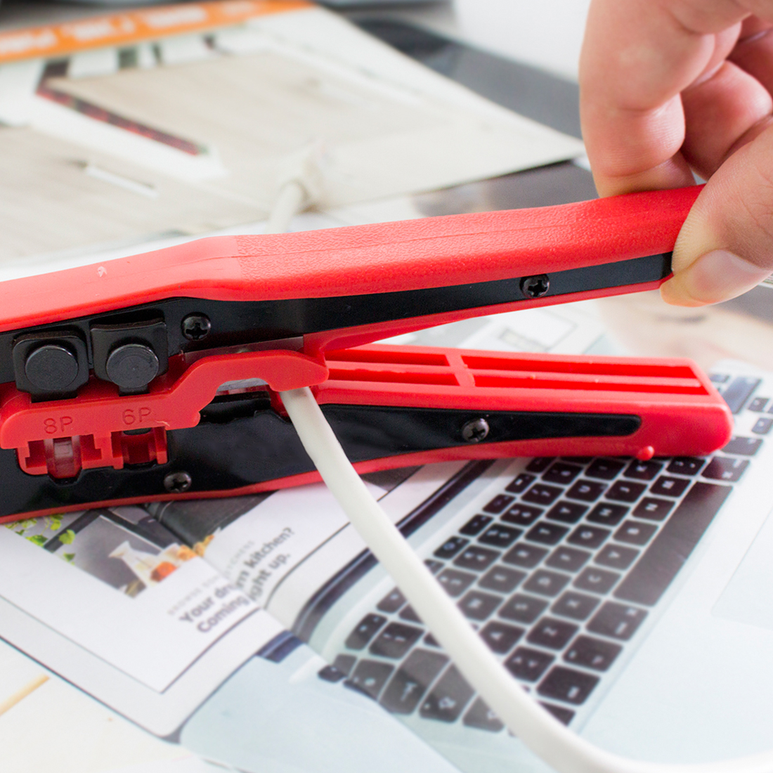 NOYOKERE Networking Tools Portable Multifunctional Cable Wire Stripper Crimping Pliers