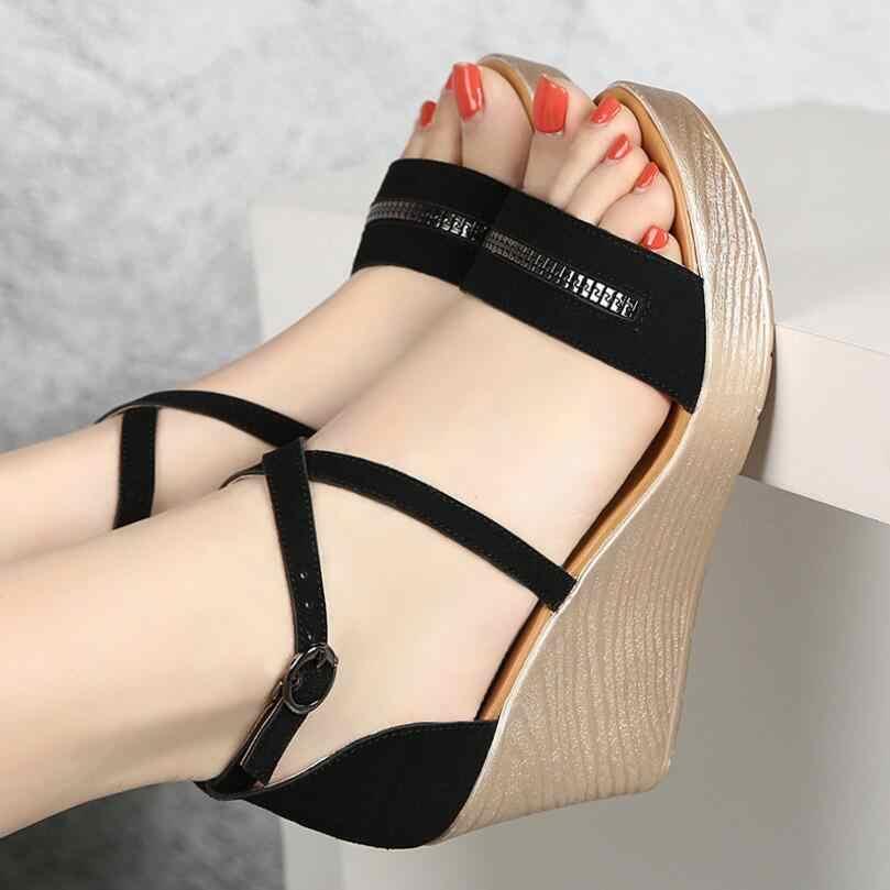 0295970c5 D Henlu Plus Size Shoes41 42 43 Ladies Sandals 2019 Summer Shoes For Woman  Sandals With Heels