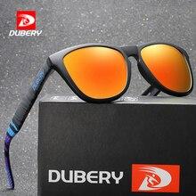 DUBERY Sunglasses Men Women Polarized New Fashion Square Vintage Mens Sun Glasses Sport Driving Retro Mirror Luxury Brand UV400