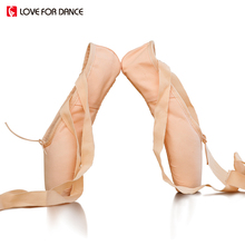 LOVE FOR DANCE 2017 New Dance Pointe Shoes Child And Adult Ballet With Ribbons Woman Ladies Professional Shoes No Silicone Pads
