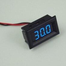 Вольтметр два дисплей провода синий светодиодный цифровой