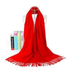 AudWhale D hiver Écharpe En Cachemire Pour Femmes Solide Rouge Gland De  Mode Pashmina Châle Pour Femmes Femme Hiver Chaud Foular. 77bd623601e