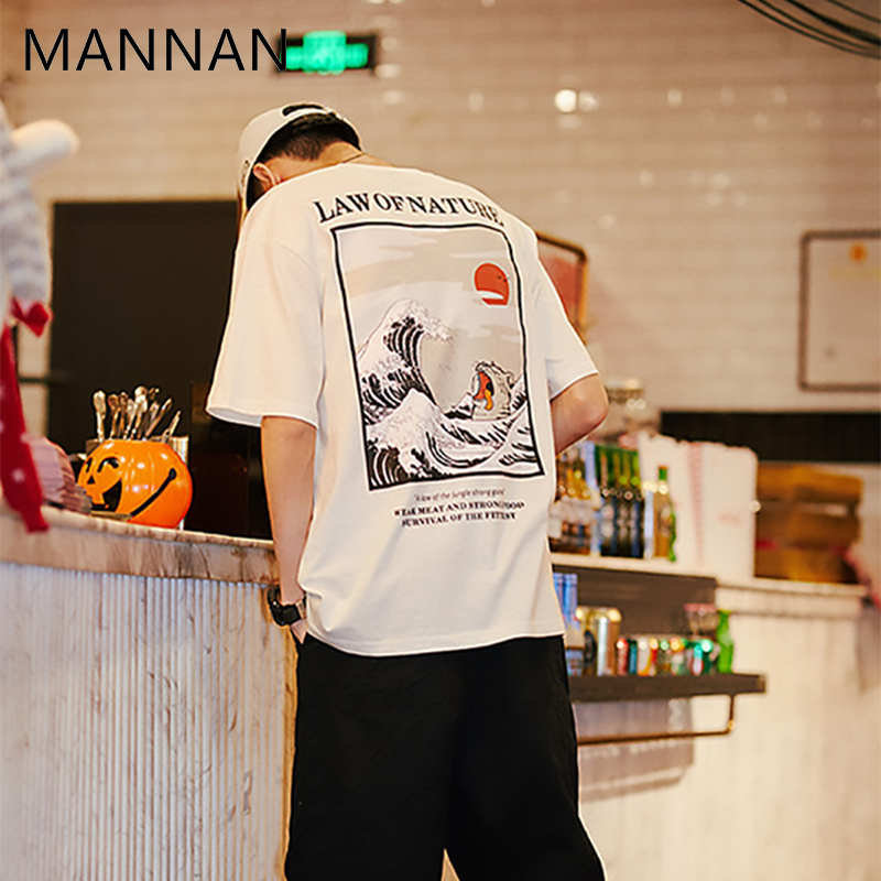 2f0a83f0476c MANNAN Men T Shirt Homme Harajuku Modis 3d Off White Tshirt Japanese  Embroidery Funny Cat T Shirt Cotton Hip Hop Camise-in T-Shirts from Men's  Clothing