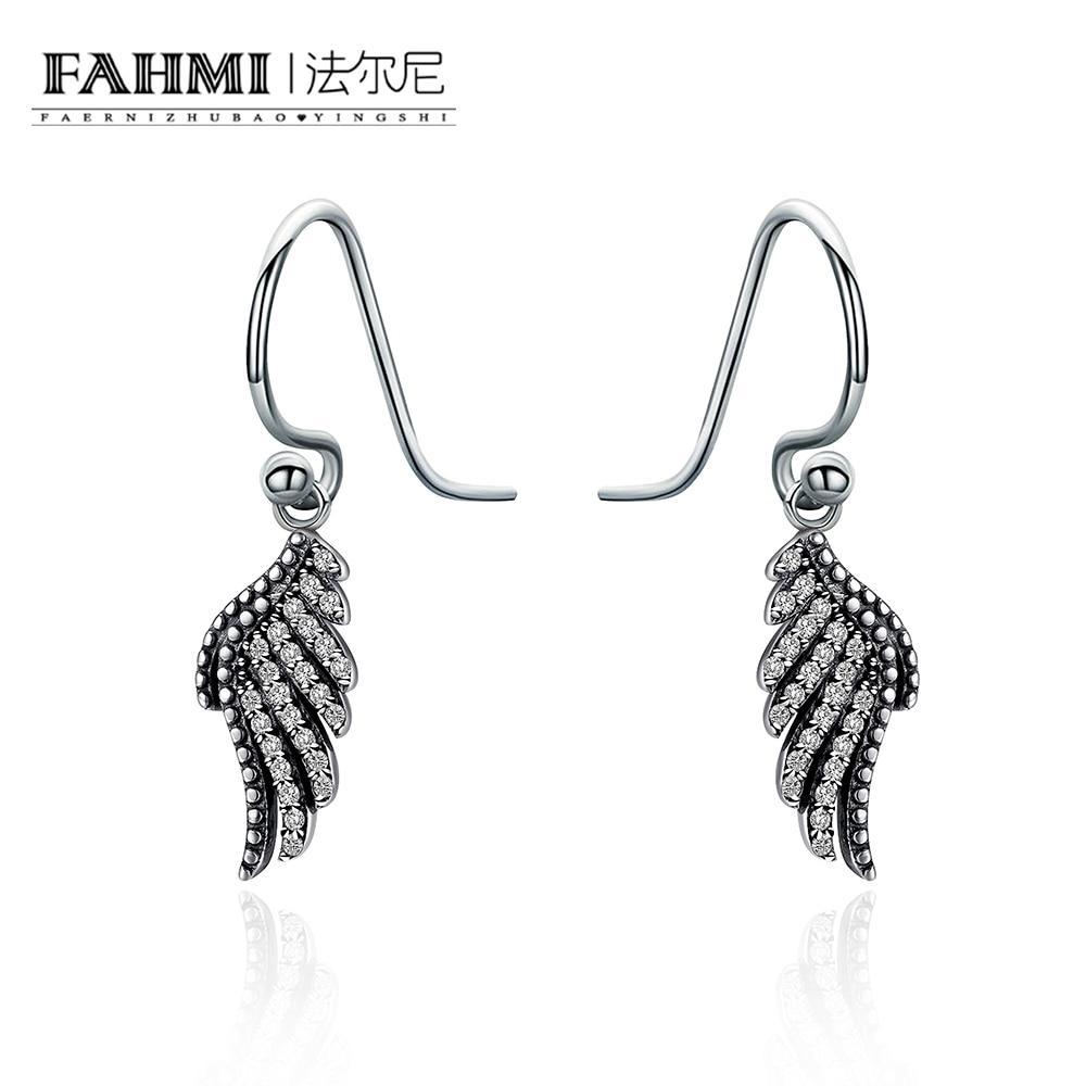 FAHMI 2018 New Korean Upscale Jewelry Wholesale Fashion Elegant Temperament Distorted Color Rhinestone Stud Earrings For Women 0