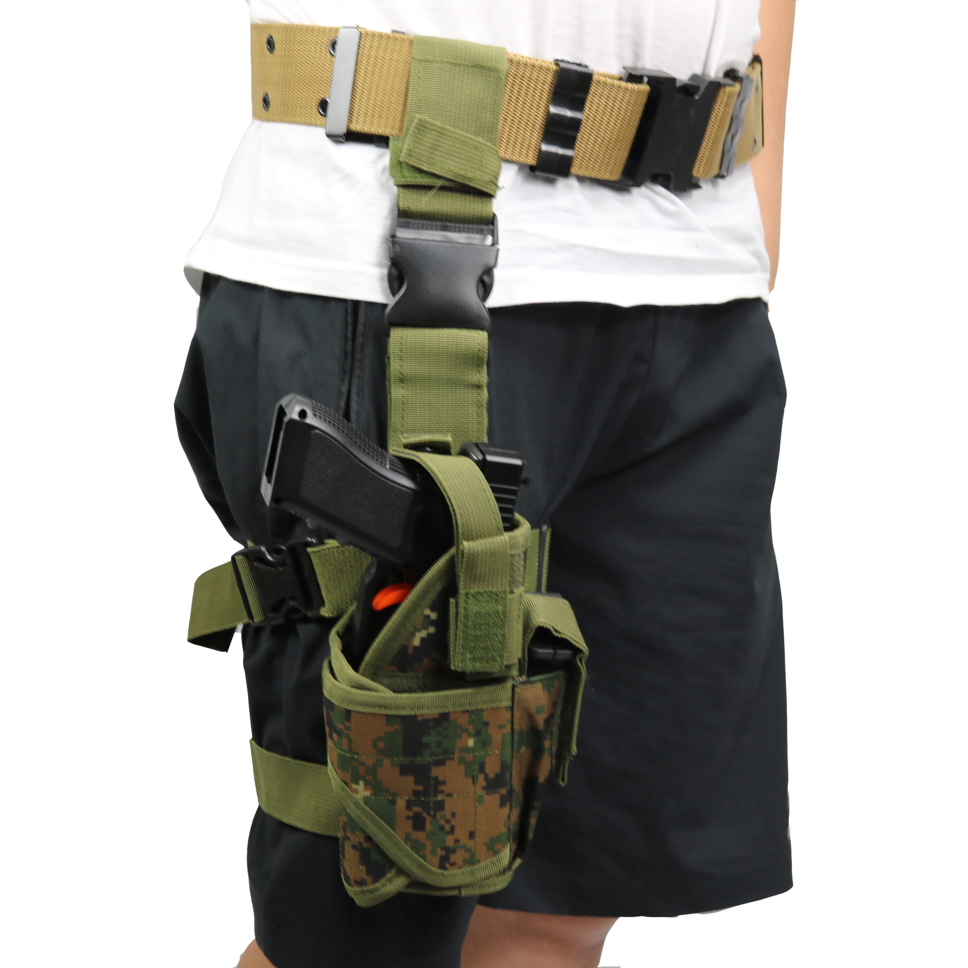 Sports Bags Hunting Bags Tactical Leggings Set Right Drop Leg Army Pistol Gun Thigh Holster Pouch Holder For Glock Outdoor Hunting Accessory Bag Military Lustrous Surface