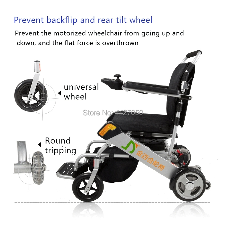 Free shipping 6 colors foldable electric large loading 180kg power electric wheelchair for disabled people 13