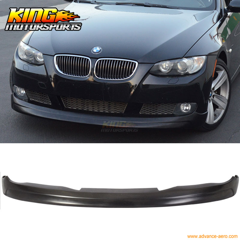 For 2007-2010 BMW E92 E93 Pre Lci 3 Series Coupe Front Bumper Lip V Style spoiler for bmw 3 series e92 e93 carbon fiber front grille gloss black finish e90 e92 e93 m3 front bumper lip grille pre lci 2005 2008