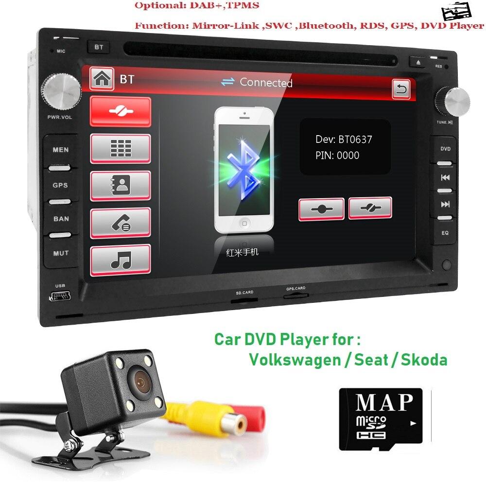 Lecteur DVD de voiture pour VW PASSAT B5 MK5 GOLF MK3 IV MK4 Polo MK4 Transporteur T5 BORA Ford Galaxy Sharan SIÈGE 7 2 din GPS Navigation