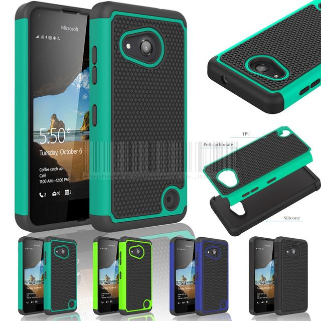 best website 90195 dbd8b US $1.83 20% OFF|Hybrid Rugged Heavy Duty Impact Protective Case Silicone  Hard Shockproof Cover for Nokia Microsoft Lumia 550 With/Without Films-in  ...