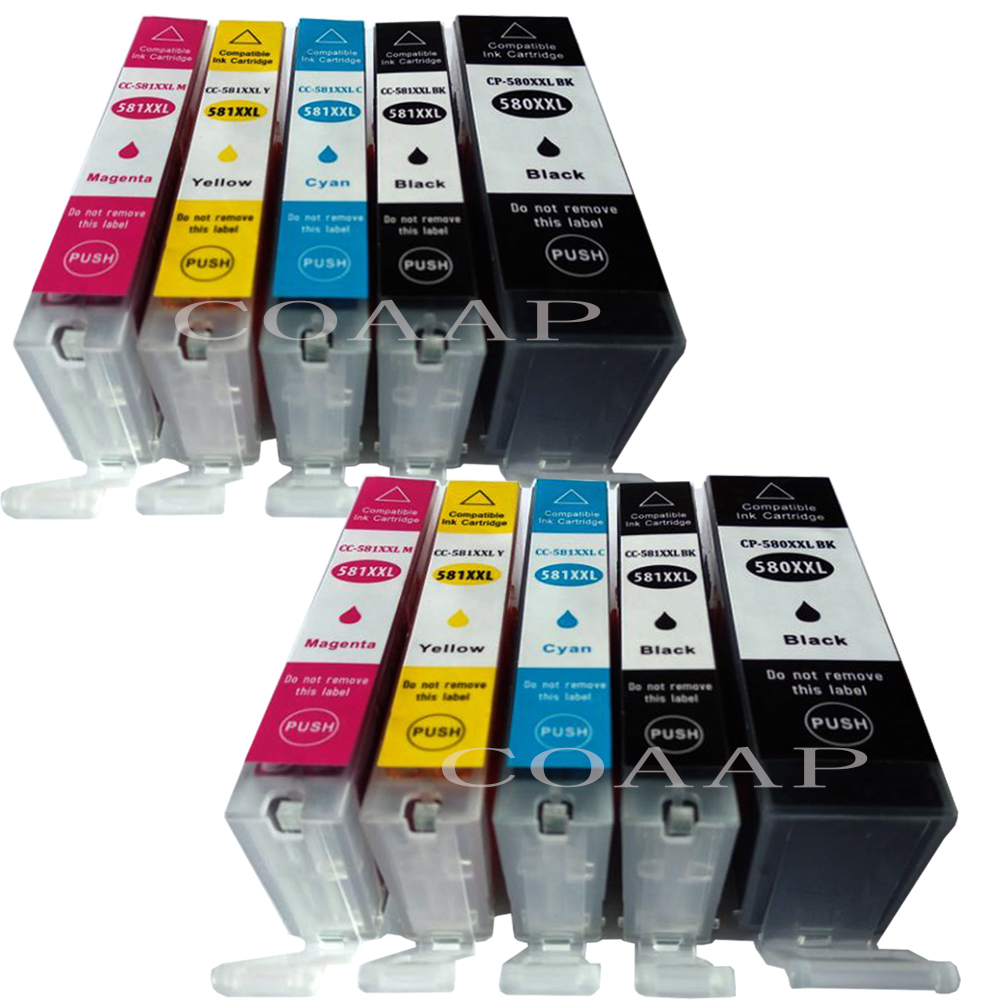 Ink cartridges for Canon TR7750 TR8850 TS6150 TS6151 TS8150 PGI580 CLI581 XL
