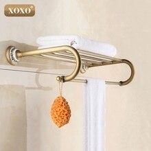 XOXO Новый Античная медь с керамической полотенце стержень стойке вешалка для полотенец моды аксессуары для ванной комнаты роскошный полотенце 11020BT
