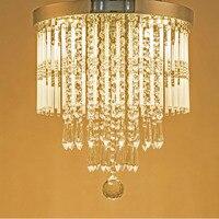 T Luxury K9 Crystal Dining Room Lamp Modern Droplight For Living Room Restaurant Home Bedroom Led