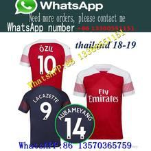 c40fc55640e 2019 Arsenal football jersey 2018 AUBAMEYANG MKHITARYAN SHIRT OZIL 18 19  LACAZETTE TORREIRA XHAKA football top