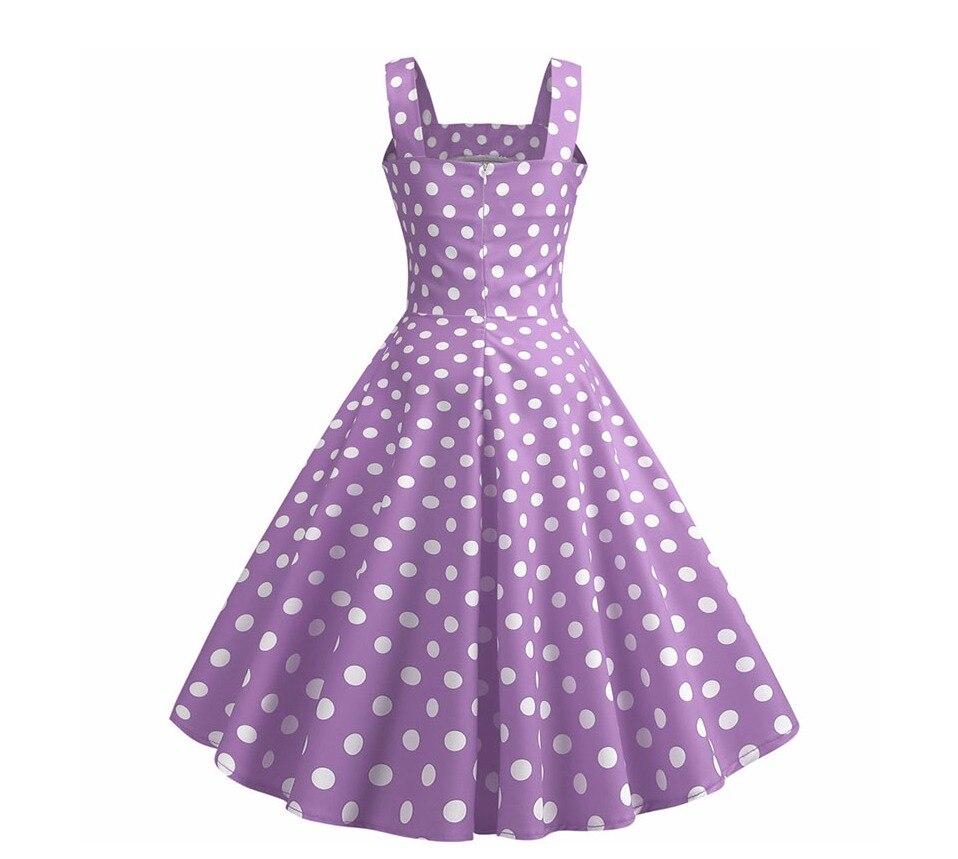 Koktejlové Retro párty šaty jednofarebné prešívaný lem bodky (5 variánt) 25