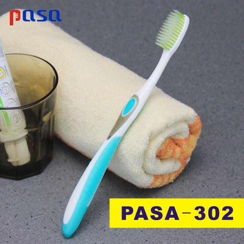 PASA 1 шт. двойная ультра мягкая бамбуковая древесный уголь нано зубная щетка черная зубная щетка стоматологическая Личная забота зубная щетка черная зубная щетка - Цвет: PASA302-Random Color