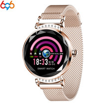 696 Newest Fashion Smart Watch Women 3D Diamond Glass Heart Rate Blood Pressure Sleep Monitor Best Gift Smartwatch PK H8 S3 band