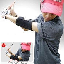 Golf Swing trainning AIDS Oxford tkanina kolanko korekta prawa lewa ręka prosta praktyka Brace Corrector wsparcie tanie tanio TOMSHOO Golf Swing Training Straight Practice Golf Elbow Brace