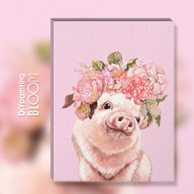 Cute Animal Oil Painting By Numbers Flowers Crown Pig Dog Paintings Hand Painted DIY Home Decoration Art Pictures Room Decor