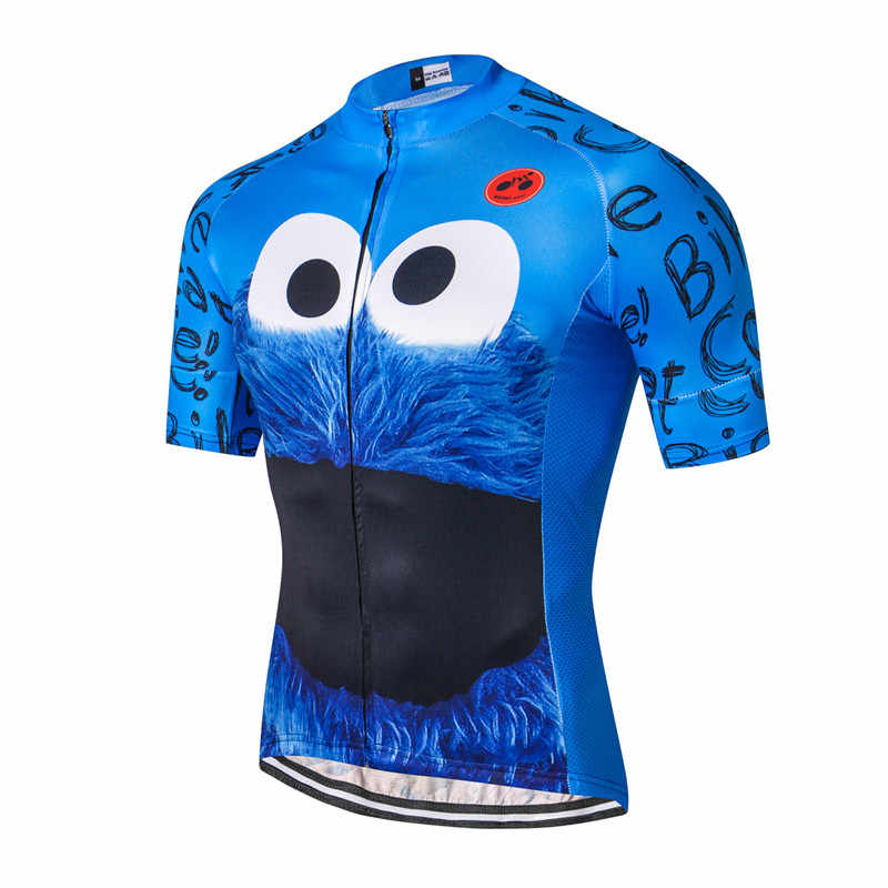Weimostar haut vert cyclisme Maillot drôle homme Cookie vélo cyclisme vêtements Maillot Ciclismo respirant vtt vélo Maillot