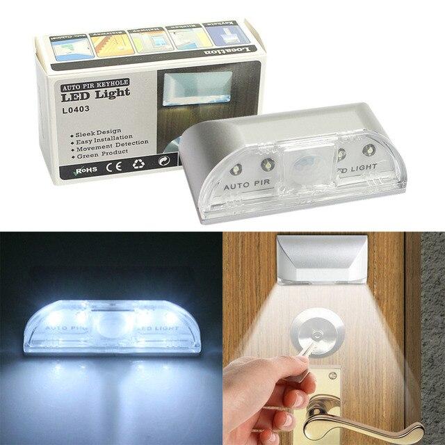 Led Porte Pratique Auto Capteur Projecteur Lumières Maison Trou Serrure 4 De Blanches Mouvement Extérieur Infrarouge Sans Fil Pir Lumière iXuTOPkZ