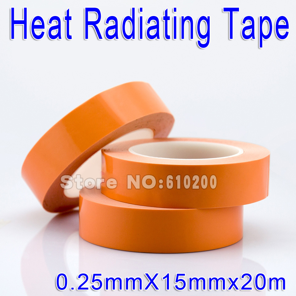 Free shipping 15mm*20m High Quality Glass fiber Thermal double-sided adhesive tape Heat conduction Tape Apply PCB Chip Heatsink. double sided glass fiber prototyping pcb universal board 12 piece pack