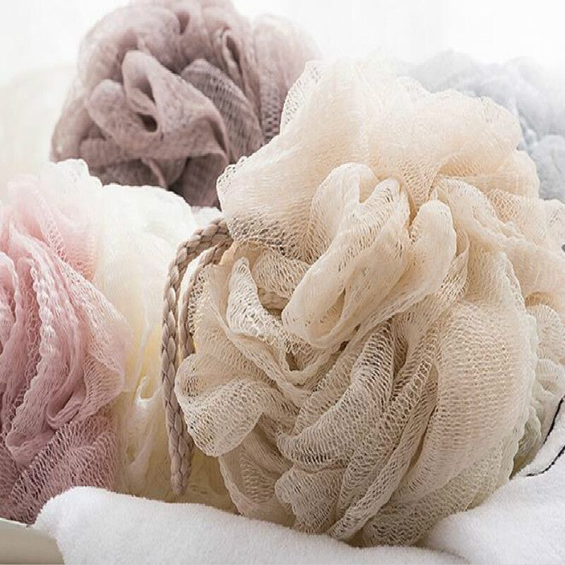 Plain Color Super Soft Bath Ball Lotion 4 Color Scrubbing Bath Flower Accessories Supplies Sponge Body Brush Shower Spong XSN
