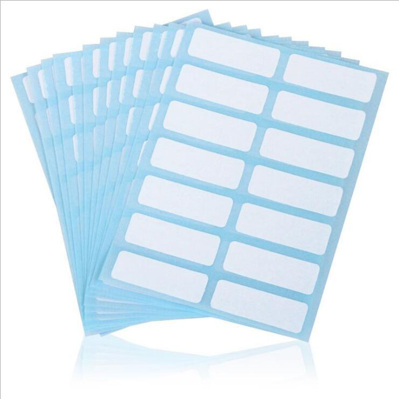 12pcs/Package Stationery Label/Sticker White Label Write Name Sticker Blank Sticker Label Child Stationery Sticker